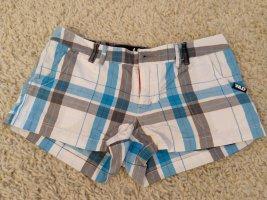 Shorts Hotpants S 36 blau kariert