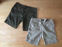 Shorts in Khaki und Beige