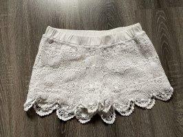 Shorts kurze Hose spitze weiß Hotpants