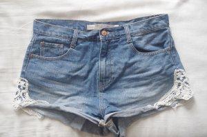 Shorts mit Spitze von Zara Größe 40 oversize