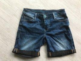 Shorts Mustang Jeans Capri Bermuda used blau / schwarz 28/29
