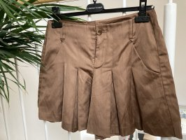 Stefanel Pleated Skirt bronze-colored