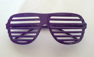 Glasses dark violet