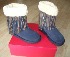 SÍ BARCELONA Boots - Leder - Fell - Gr. 39