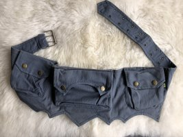 unbranded Bumbag grey cotton