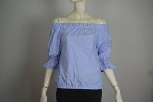 Sienna Bluse im Carmen Stil blau weiß, wie NEU Gr 36 S