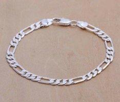Silber 925 Armband Figarokettengliederung Sterling