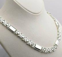 Silber 925-Flache Königskette Mit Platten -83 gr-Np 230 euro
