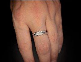 Silber 925 Ring mit Zirkonia (NEU) (Größenverstelbar)
