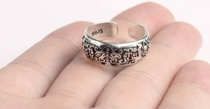 Silber  925 verstellbar Ring
