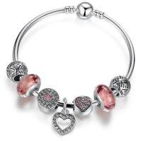 Silber Armband mit 7 Charms 925er