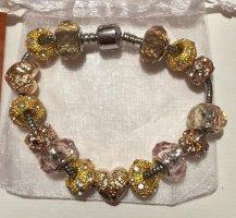 Srebrne bransoletki złoto-srebrny