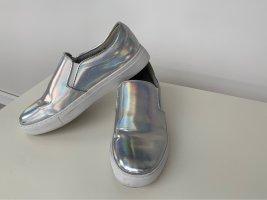 Silber Effekt Schuhe