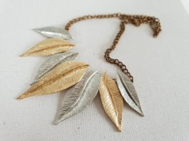 Silber Gold Blätter Anhänger Kette Halsschmuck Halskette Schmuck