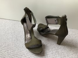 Promod T-Strap Sandals silver-colored-green grey