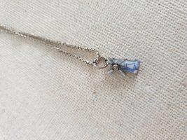 Boutique Ware Srebrny łańcuch srebrny-stalowy niebieski