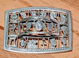 Silber Ketten Anhänger oder Brosche, The Hieroglyphic Alphabet, aus Luxor