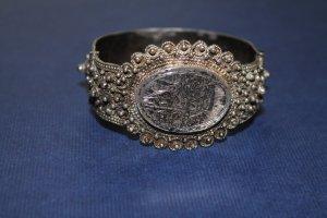 Silber: orientalischer Armreif / Armspange / Armband; sehr aufwendig gearbeitet