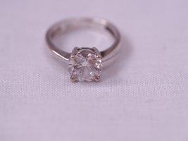 Silber Ring 925, mit Zirkonia Stein, ähnlich Verlobungsring, Größe 49/50