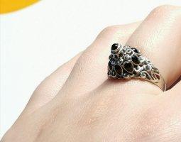 Silber Ring 925 Onyx