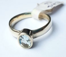Silber Ring - Aquamarin - Gr. 57 - NEU - 925er Sterlingsilber