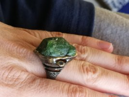 Silber Ring, chrome diopside