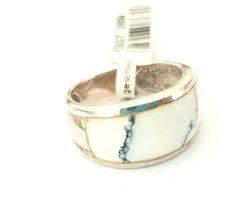 Silber Ring - Marmor Imitat - Gr 55 NEU - 925er Sterlingsilber