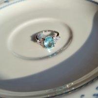 Silberschmiede Zilveren ring zilver-azuur