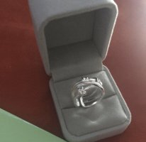 Silber Ring , one Size - neu