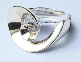 Silber Ring - Silberne Rose - Gr. 61 - NEU - 925er Sterlingsilber