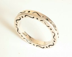 Silber Ring - sportlich Alltagstauglich - Gr 54 - NEU - 925er Sterlingsilber