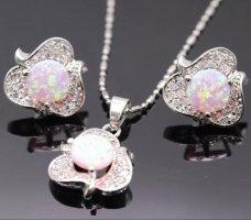925er Silber Conjunto de Joyas color plata-rosa