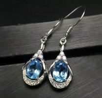 925er Silber Parure bijoux bleu