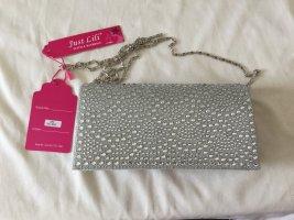 Silber Trend Umhängetasche Diamant-Look Clutch Handtasche Damen Tasche Bag