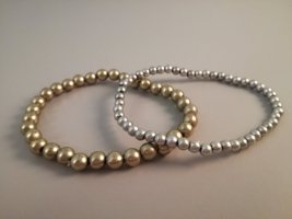 Pearl Bracelet silver-colored-gold-colored