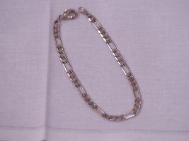 Silberarmband, mit Karabiner Verschluss, Länge ca. 17cm, wie neu