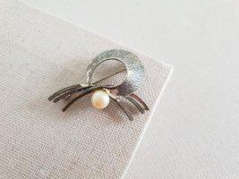 Spilla argento-beige chiaro