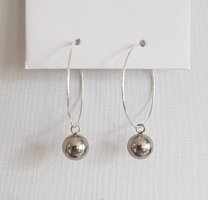 Hand made Ear Hoops silver-colored
