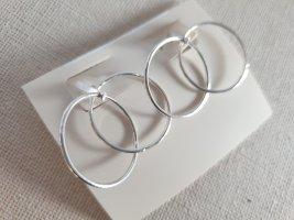 Orecchino a cerchio argento