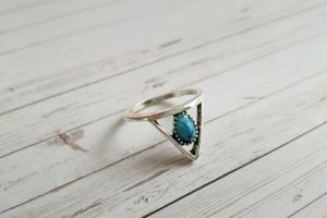 Statement Ring silver-colored-turquoise