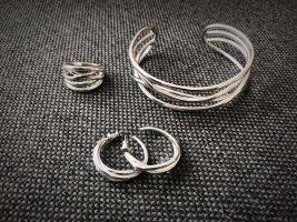 Pilgrim Bracelet en argent argenté