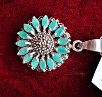 Catena d'argento argento-turchese
