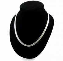 925er Silber Cadena de plata color plata