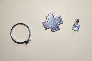 Silberkreuz Esprit + Silberanhänger + Ring gratis