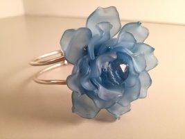 Bracciale argento-blu fiordaliso