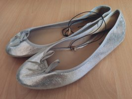 Graceland Foldable Ballet Flats silver-colored