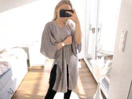 Silberne dünne Jacke von Zara