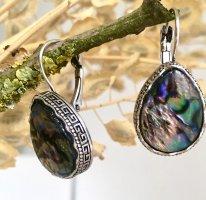 Silberne Ohrringe mit Perlmutt