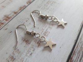 Silberne Ohrringe mit Sternen NEU