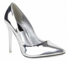 Pointed Toe Pumps silver-colored